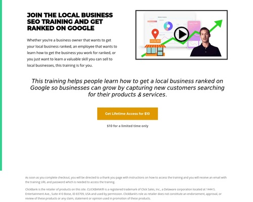 Local Business SEO Training Click Bank – Business Growth Solutions