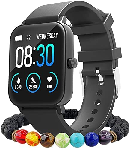 JOMEI Smart Watch IP68 Waterproof Swimming Tracker Pedometer High Precision Heart Rate and Sleep Monitoring 12 Sports Modes Long Lasting Power Supply